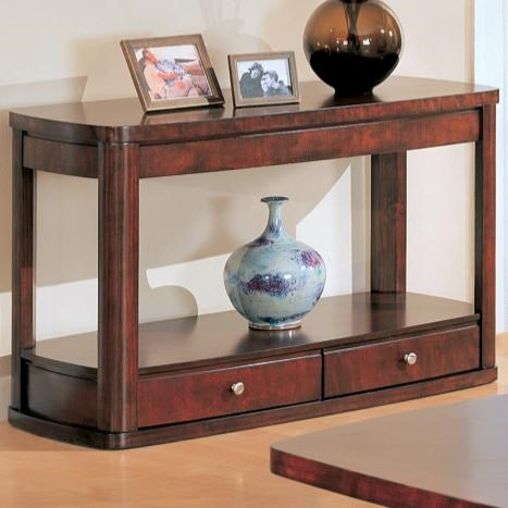 Casual Brown Wood Rectangle Storage Sofa Table CST-700249