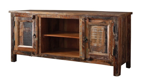 Reclaimed Wood TV Console W/Shelves CST-700303