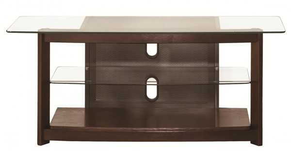 Coaster Furniture Chestnut Glass Open Storage TV Console CST-700321