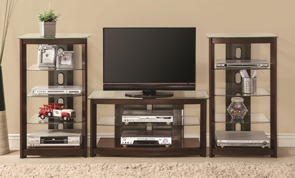 Contemporary Brown Wood Entertainment Wall Unit CST-700321-22-ENT