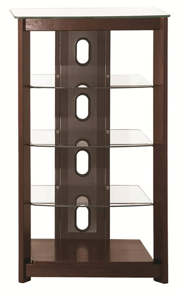 Coaster Furniture Chestnut Glass 4 Shelves Media Tower CST-700322