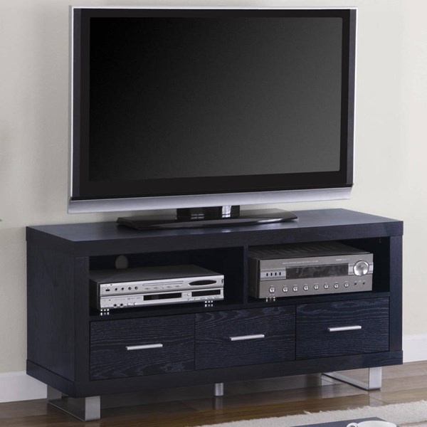 Coaster Furniture Black Wood 3 Drawers TV Stand Armoire CST-700644