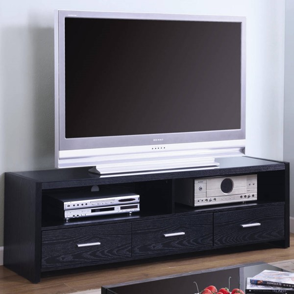 Modern Black Wood TV Stand/Armoire CST-700645