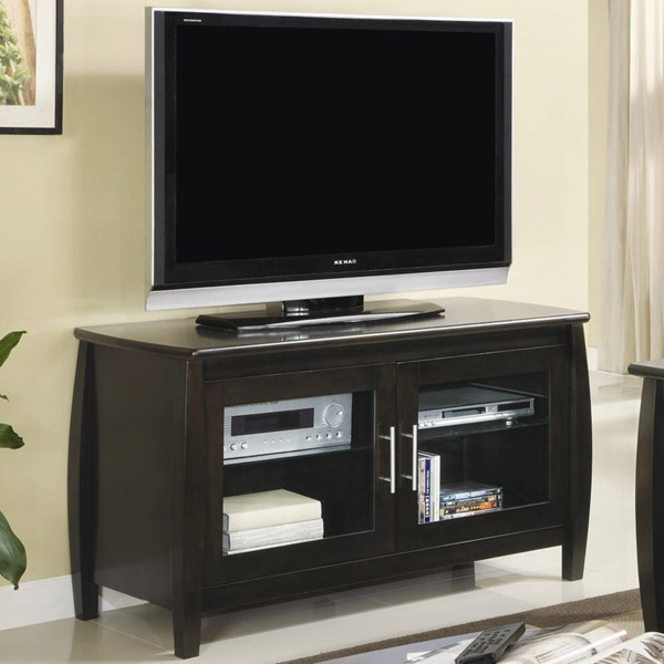 Cappuccino Wood Glass TV Stand/Armoire CST-700647