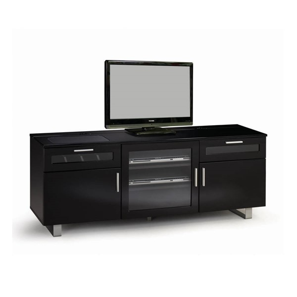 Coaster Furniture Black MDF 2 Drawers TV Console CST-700672
