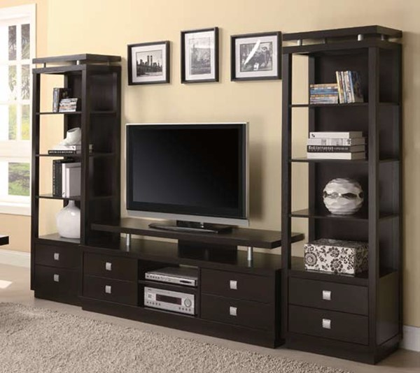 Coaster Furniture Cappuccino Wood Entertainment Center CST-800354-EU
