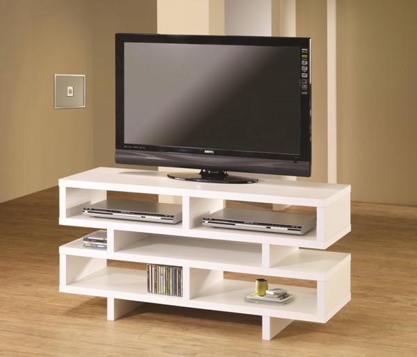 White Wood Horizontal Chest TV Console CST-700721