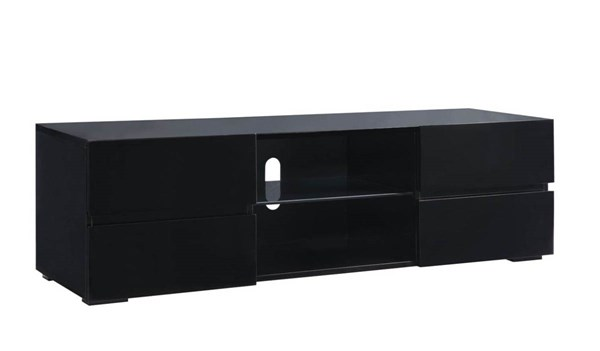 Coaster Furniture Black Wood 4 Drawers TV Stand CST-700841