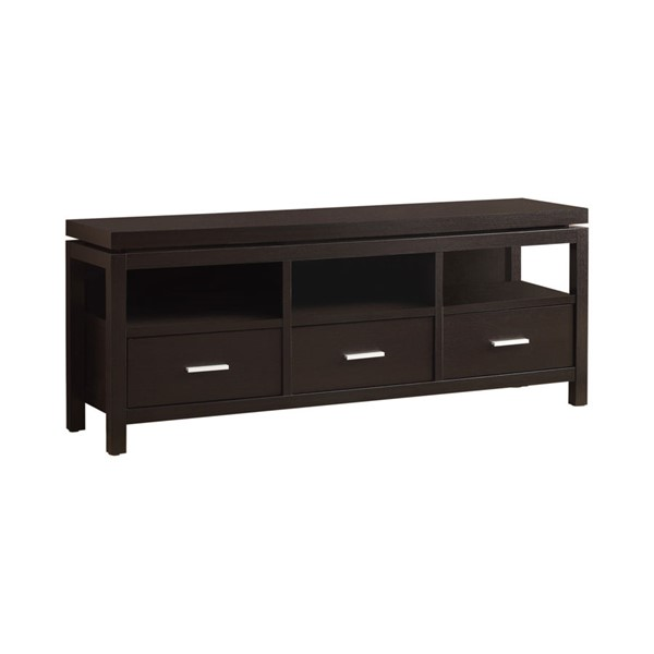 Coaster Furniture Cappuccino Wood TV Console CST-700885