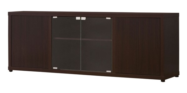 Coaster Furniture Brown Cappuccino Glass TV Console CST-700886