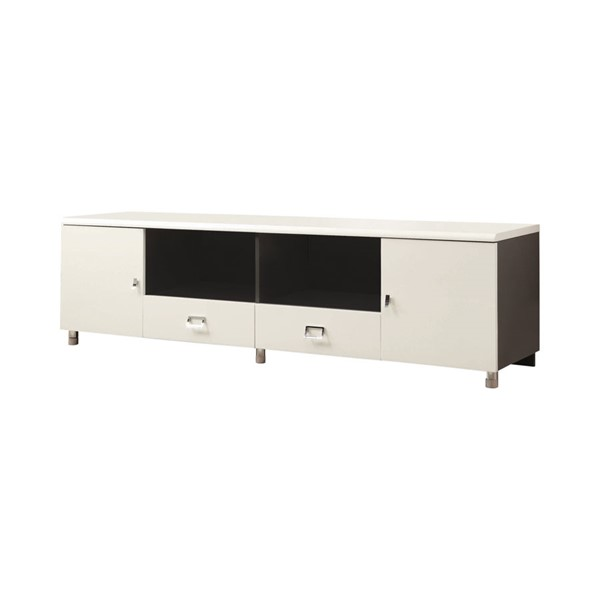 Coaster Furniture White Grey 2 Drawers TV Stand CST-700910