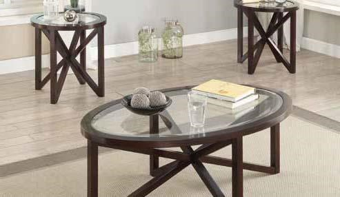 Coaster Furniture Cappuccino 3pc Set CST-701004