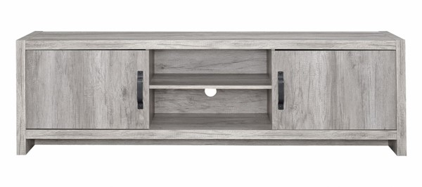 Coaster Furniture Grey Wood Two Door and Shelf TV Console CST-701025