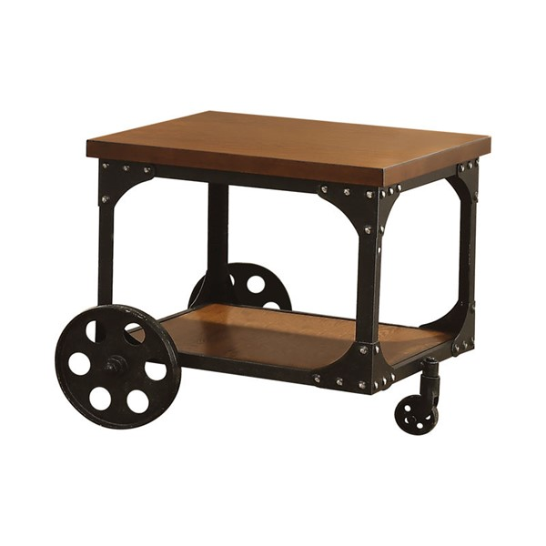 Coaster Furniture Brown Wood Square End Table CST-701127