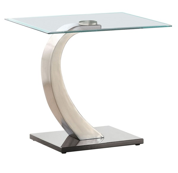 Coaster Furniture Satin Glass Top End Table CST-701237