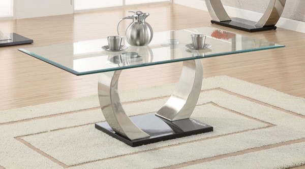 Coaster Furniture Satin Glass Top Coffee Table CST-701238