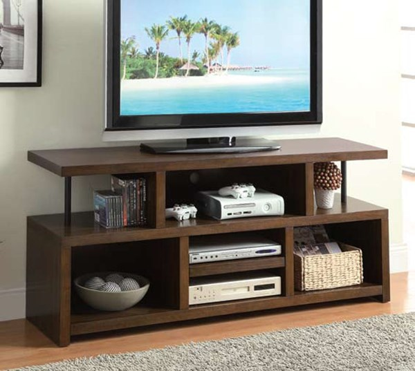 Casual Brown Wood TV Console ( L 60 X W 16 X H 27 ) CST-701374