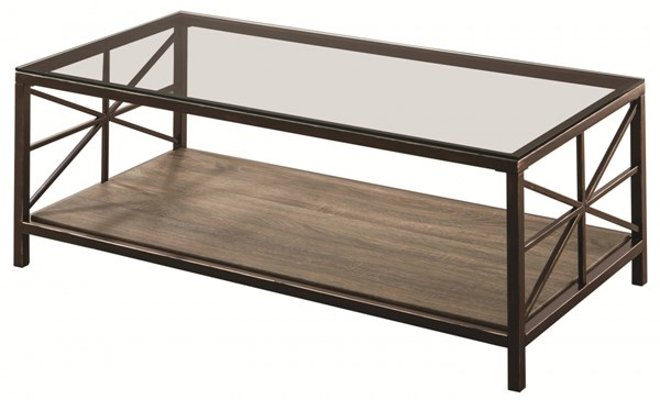 Coaster Furniture Country Black Coffee Table with Shelf CST-701398