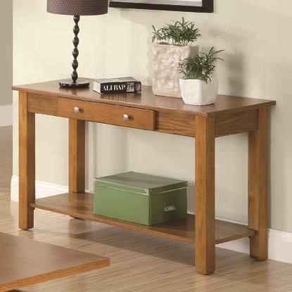 Traditional Oak Wood Rectangle Sofa Table CST-701439