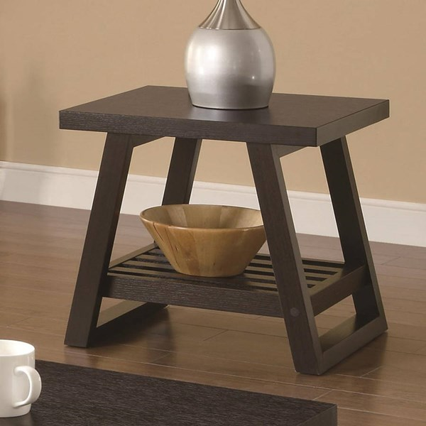 Casual Brown Wood End Table ( L 21.75 X  w 19.75 X H 21 ) CST-701867