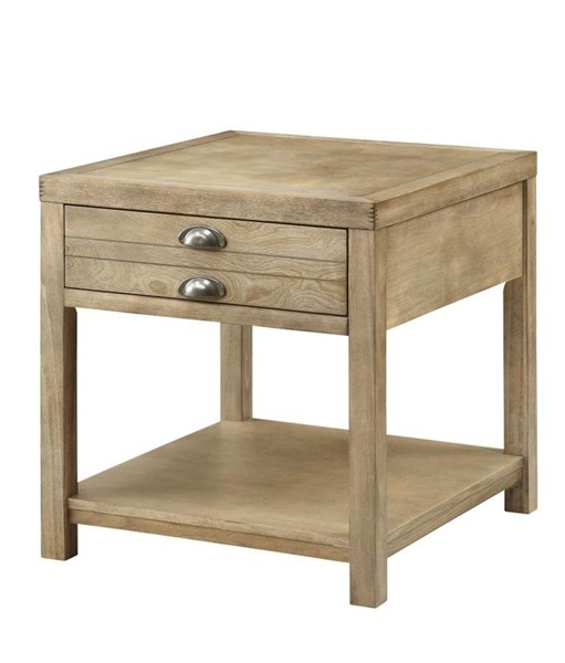 Coaster Furniture Light Oak Wood Storage End Table CST-701957
