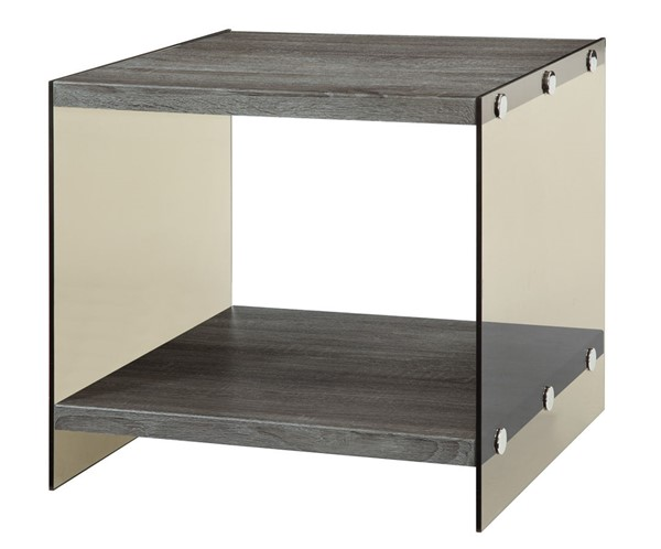 Coaster Furniture Weathered Grey Wood End Table CST-701967