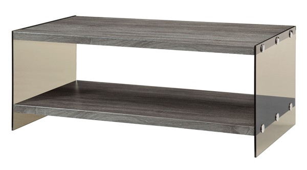 Coaster Furniture Weathered Grey Wood Coffee Table CST-701968