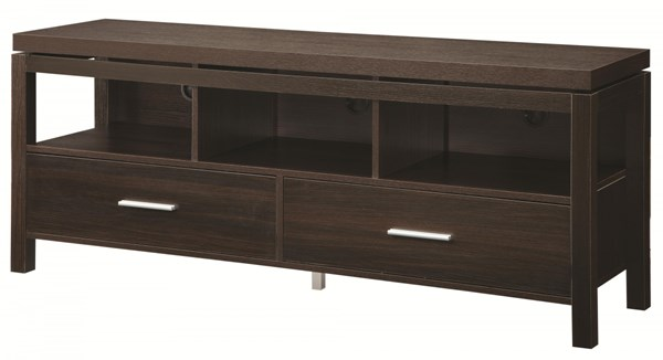 Coaster Furniture Dark Brown Wood TV Console CST-701971