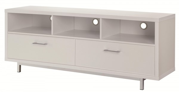 Coaster Furniture White MDF 3 Shelves TV Console CST-701972