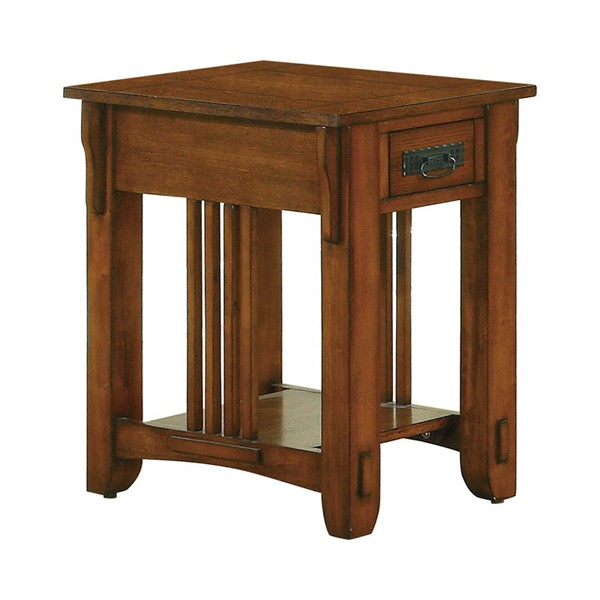 Coaster Furniture Warm Brown Storage Side Table CST-702006