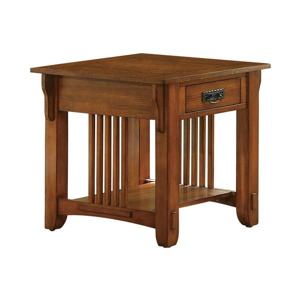 Coaster Furniture Warm Brown Storage End Table CST-702007