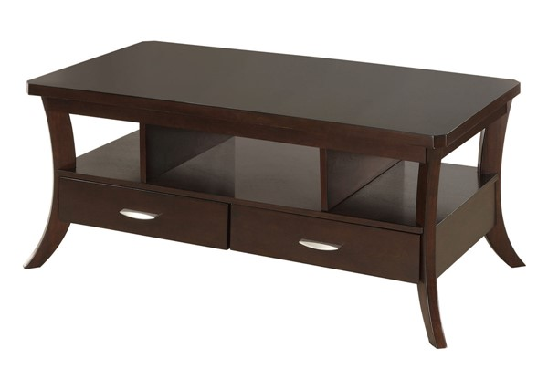 Coaster Furniture Espresso Wood Storage Coffee Table CST-702508
