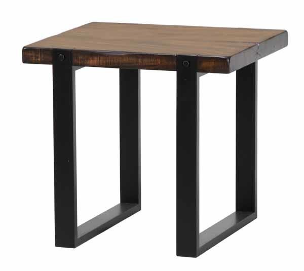 Coaster Furniture Brown Black Wood Rectangle End Table CST-703427