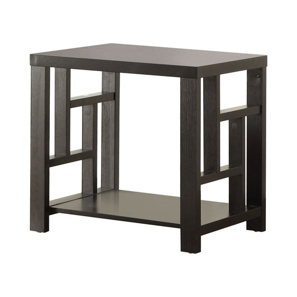 Coaster Furniture Cappuccino Wood 1 Shelf End Table CST-703537