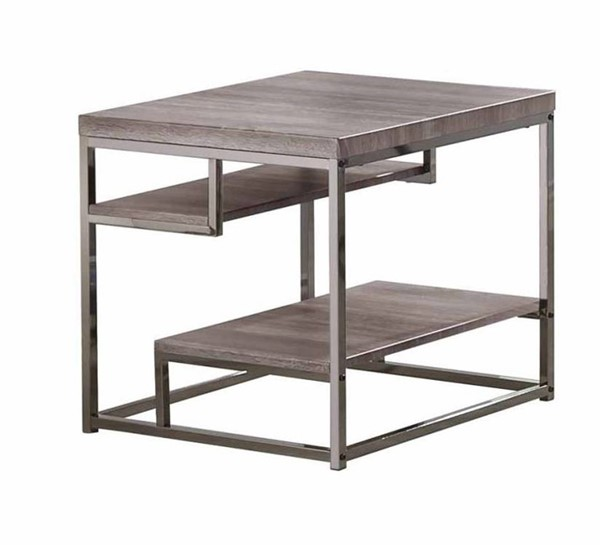 Coaster Furniture Grey Black Metal Storage End Table CST-703727