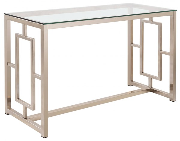 Contemporary Satin Glass Metal Sofa Table CST-703739