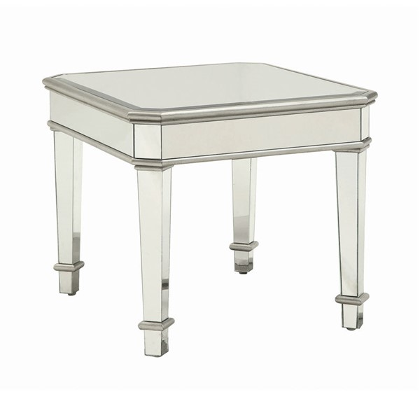Coaster Furniture Silver End Table CST-703937