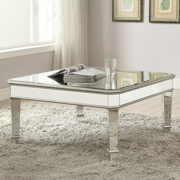 Coaster Furniture Silver Coffee Table CST-703938