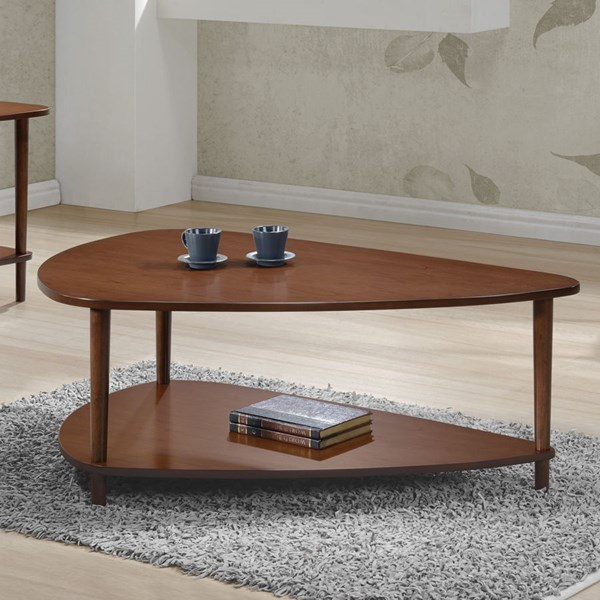 Walnut Wood Lower Shelves For Storage Coffee Table CST-704058