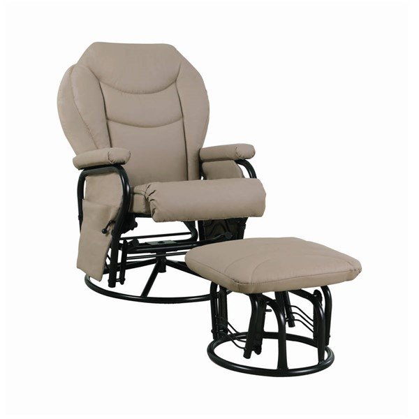 Coaster Furniture Bone Swivel Glider with Ottoman CST-7040