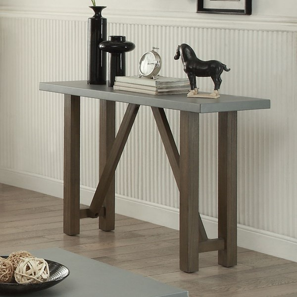 Rustic Wood Sofa Table W/Driftwood Color CST-704249