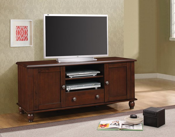 Merlot Wood TV Console W/Drawers Storage CST-704411