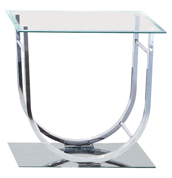 Coaster Furniture Chrome Glass End Table CST-704987