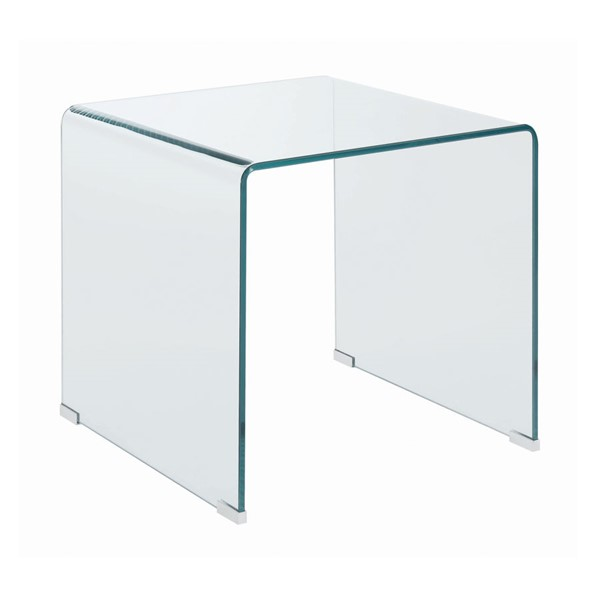 Coaster Furniture Clear Glass Square End Table CST-705327