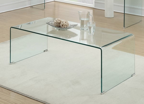 Coaster Furniture Clear Glass Rectangle Coffee Table CST-705328
