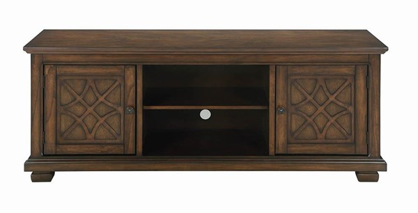Coaster Furniture Golden Brown 60 Inch TV Console CST-708132
