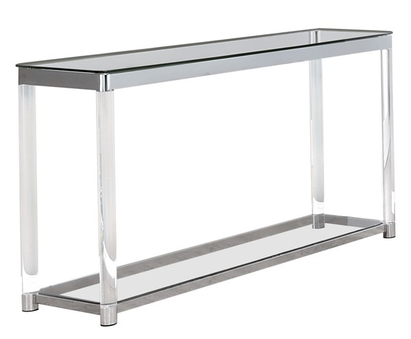 Coaster Furniture Clear Glass Acrylic Sofa Table CST-720749