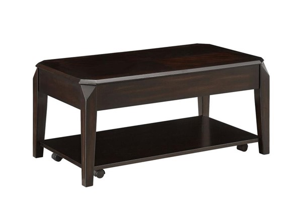Coaster Furniture Walnut Wood Rectangle Lift Top Coffee Table CST-721048
