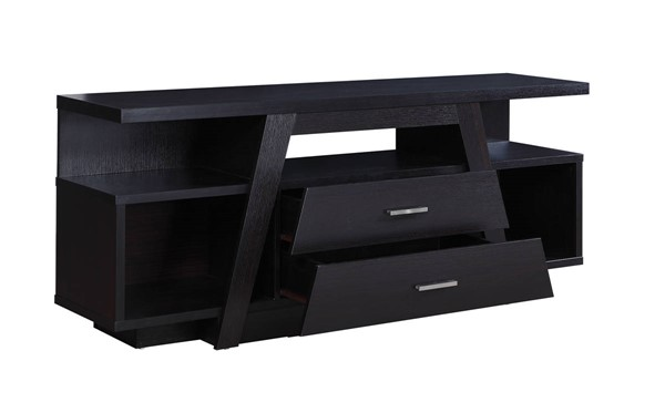 Coaster Furniture Cappuccino Wood Two Drawer and Five Shelf TV Stand CST-721110