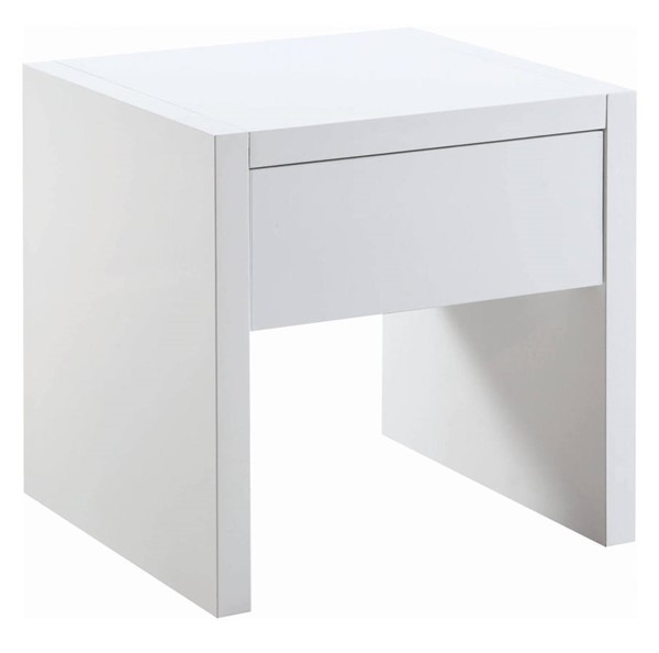 Coaster Furniture Glossy White MDF Storage Rectangle End Table CST-721247